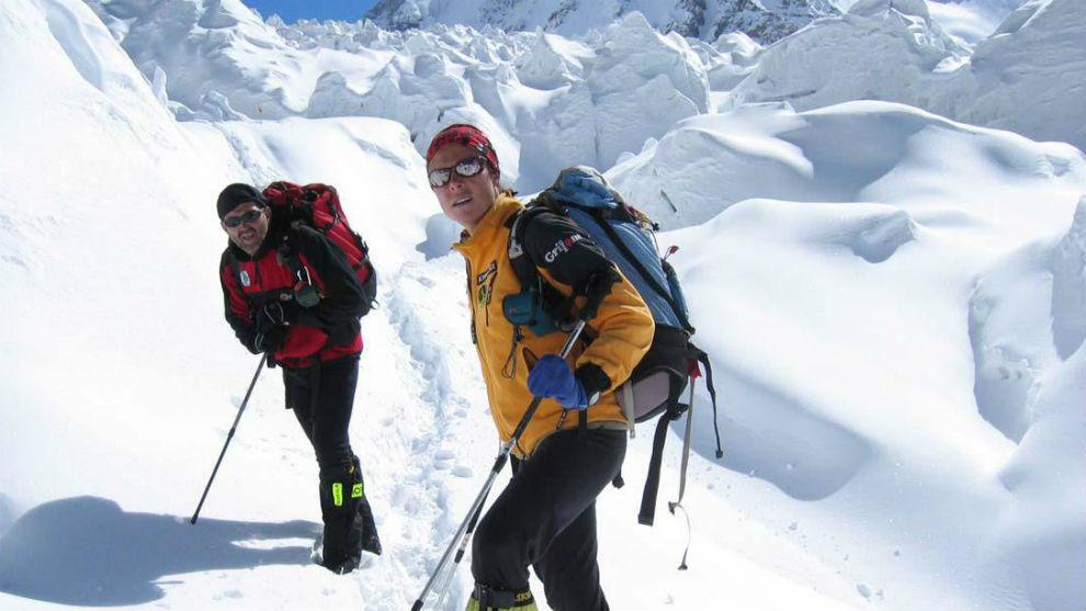 Oiarzabal y Pasabán, en el K2.