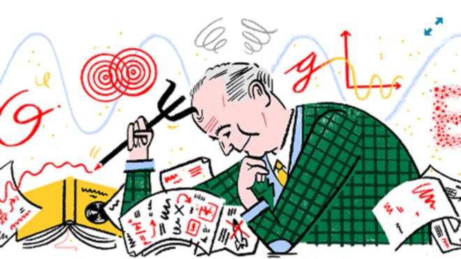 'Doodle' dedicado a Max Born ,padre de la mecanica cuántica