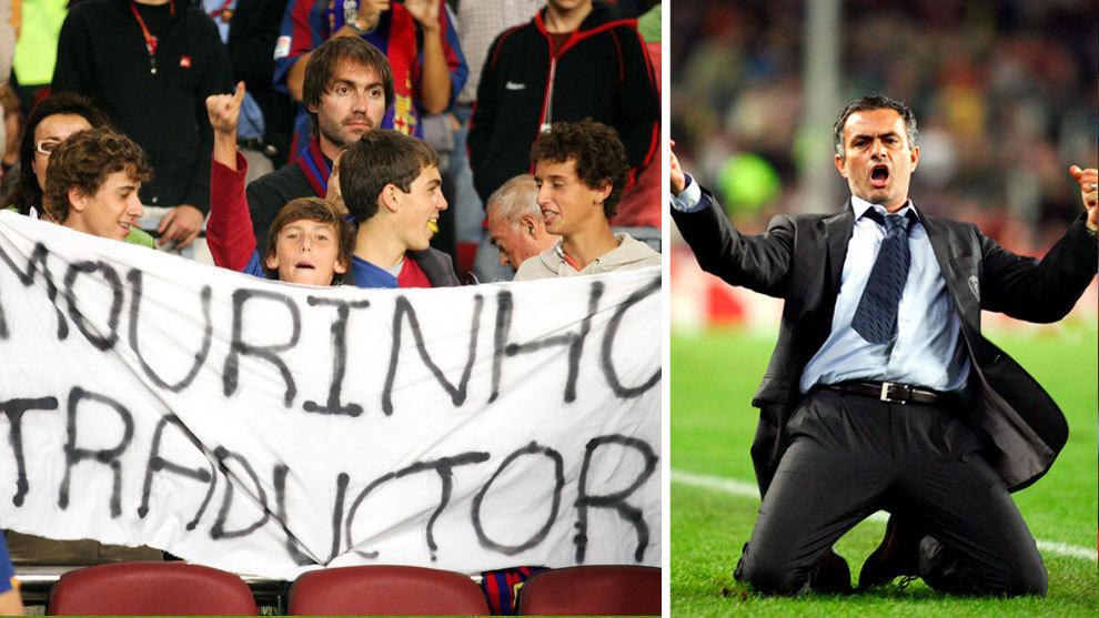 El Camp Nou tuvo un recibimiento hostil hacia Mourinho, que celebró...