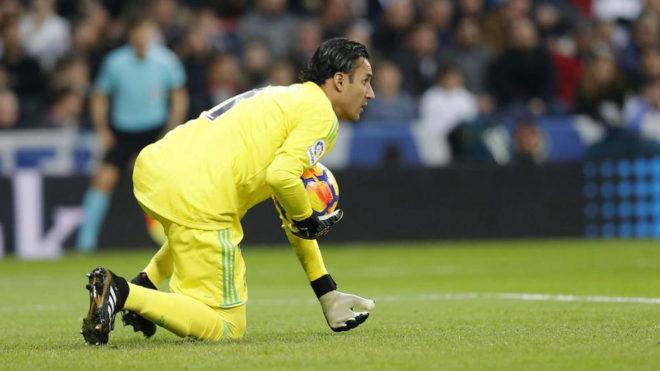 Keylor Navas, durante el último partido del Real Madrid