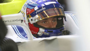 Sirotkin, durante los test de Abu Dabi con Williams F1.