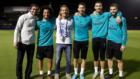 Raúl, Marcelo, Salgado, Ramos, Cristiano y Nacho en Abu Dhabi