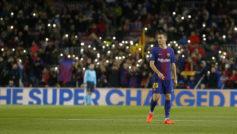 Vermaelen, en un partido con el Barça