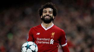 Mohamed Salah, en un partido con el Liverpool.