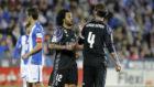Ramos y Marcelo charlan en Butarque, con Mantovani de fondo, la...