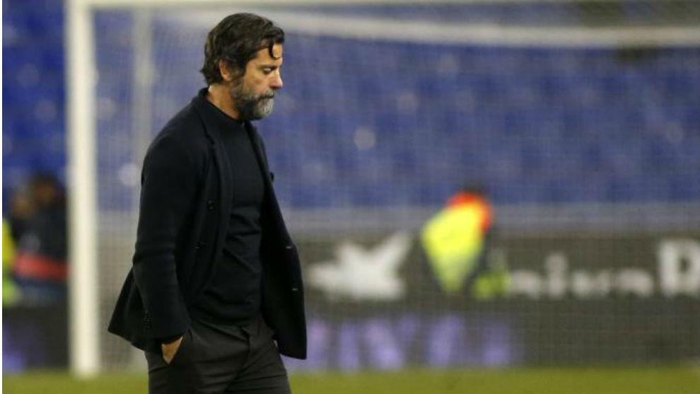 Quique Sánchez Flores, tras la derrota contra el Girona.