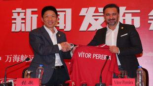 Presentación en conferencia de prensa de Vítor Pereira como nuevo...