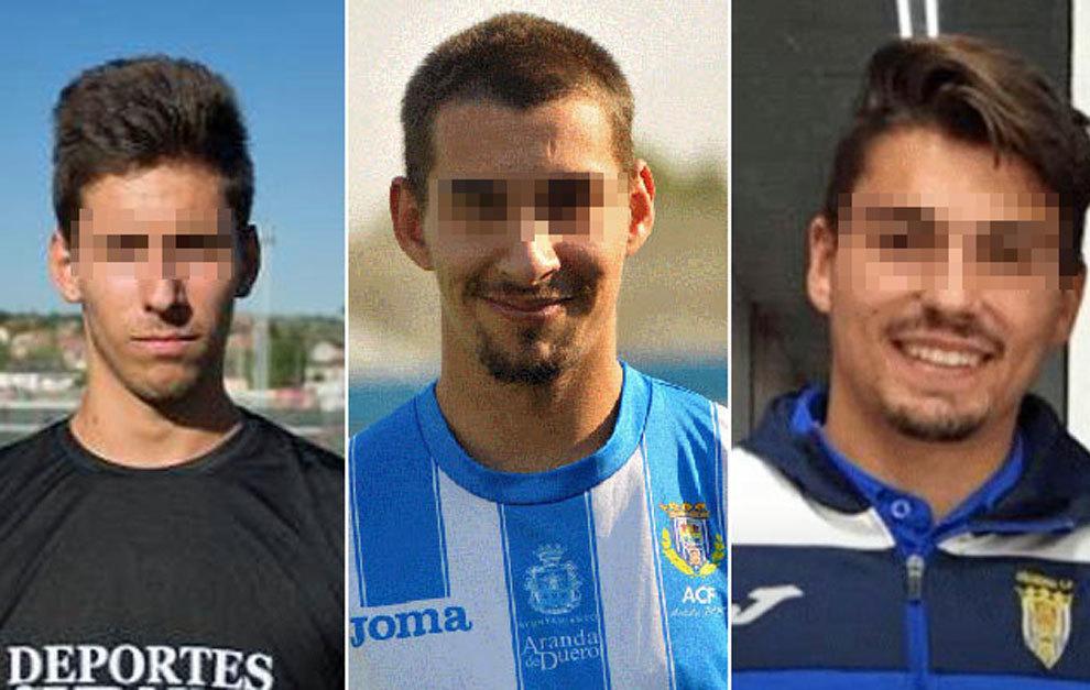 De izda. a dcha., Víctor Rodríguez Ramos 'Viti', Carlos Cuadrado...