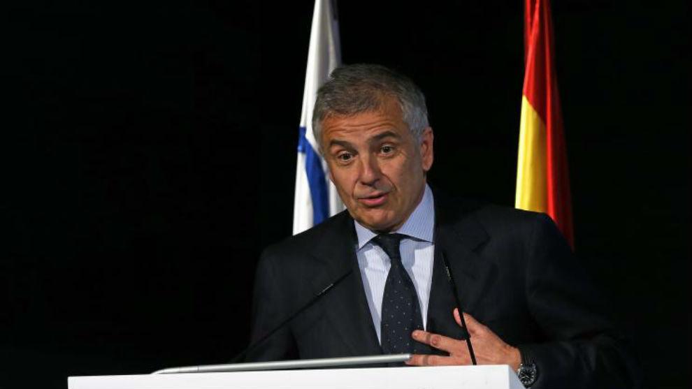 Juan Antonio Samaranch, en una rueda de prensa