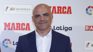 Jesús Núñez durante la Gala del Fútbol Femenino de MARCA.