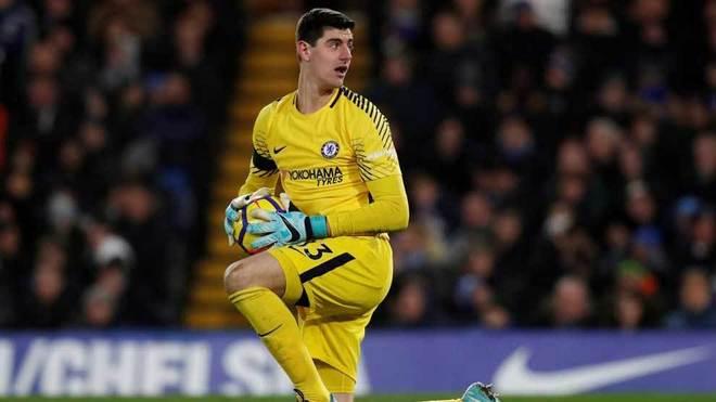 Courtois, durante un partido con el Chelsea.