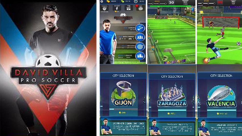 Imágenes del videojuego 'David Villa Pro Soccer'.