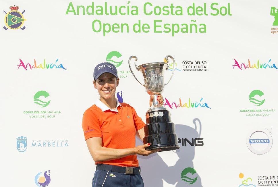 Azahara tras ganar el Andalucía Costa del Sol Open de España de...