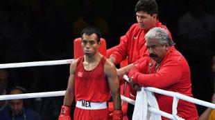 Elías Emigdio durante los Juegos Olímpicos.