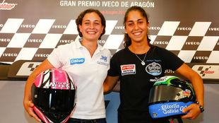 Ana Carrasco y María Herrera, en 2013.