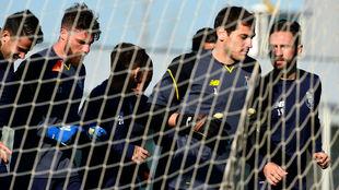 Iker Casillas, durante un reciente entrenamiento con el Oporto.
