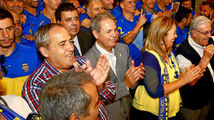 Nicolás Ortega, en un acto de Las Palmas