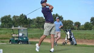 El joven golfista español Adriá Arnaus.
