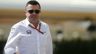 Eri Boullier, director de carrera de McLaren, en el GP de Abu Dabi