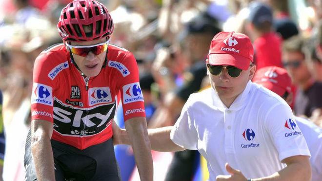 Froome, al acabar una etapa de la Vuelta a España