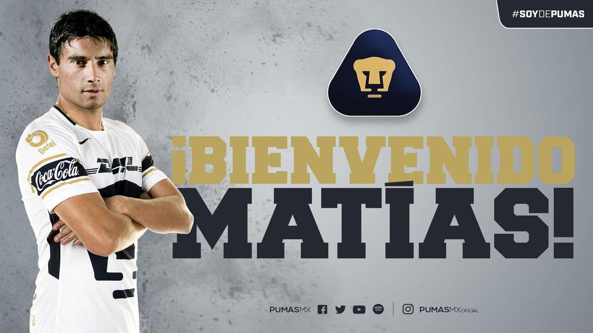 Matías Alustiza llega a Pumas a préstamo por un año.