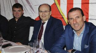 Marcucci, Castro y Arias, en la tradicional comida navideña.