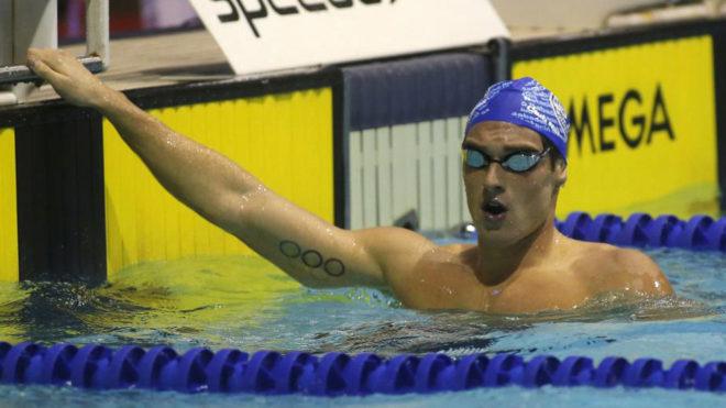 Marc Sánchez, el el Campeonato de España de piscina corta