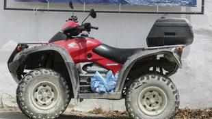 El quad de Ángel Nieto, tras el accidente.