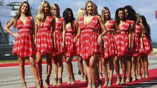 Imagen de las chicas de la parrilla del pasado GP de EE.UU. en Austin.