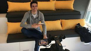 Álex Márquez, en la oficinas de Rodi en Lleida.