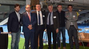 Gallardo, junto a Hugo Costa, Fernando Rojo, Ignacio Guerras, Juan...