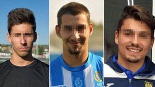Los tres jugadores de la Arandina acusados de agresión sexual.