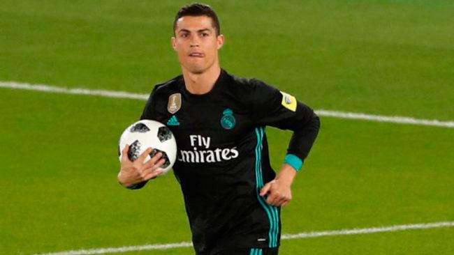 Cristiano celebra su gol al Al Jazira.