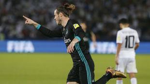 Bale celebra el gol del triunfo ante el Al Jazira en el Mundial de...