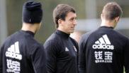 Mikel Oyarzabal, durante un entrenamiento de la Real Sociedad