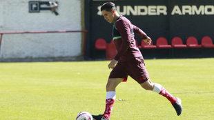 Velarde, en sus últimos entrenamientos con Toluca.