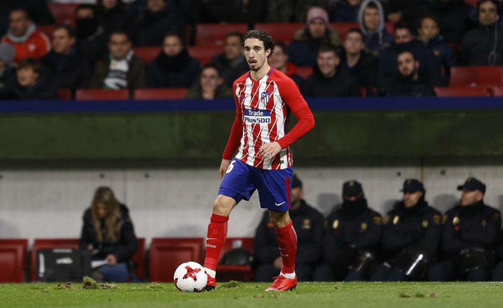 Vrsaljko, en un partido con el Atlético.
