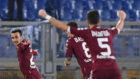 Berenguer celebra el primer gol con el Torino en la Serie A