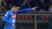 Callejón celebrando un gol en el partido ante el Bolonia