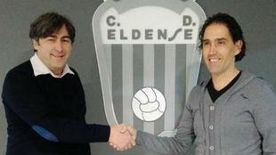 Capuani (izquierda) y Fran Ruiz (derecha), durante la presentación...
