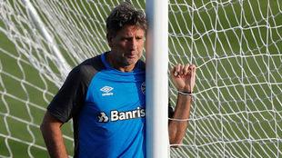 Renato, durante el entrenamiento