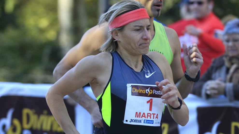 Marta Domínguez, durante una carrera