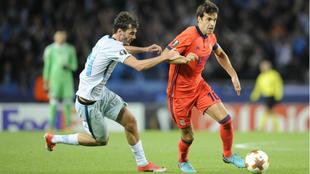 Xabi Prieto, en una acción contra el Zenit.