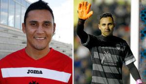 Keylor Navas, en su primer año en el Albacete y en un partido con el...