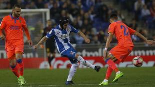 Un lance del Espanyol-Las Palmas de la temporada pasada.