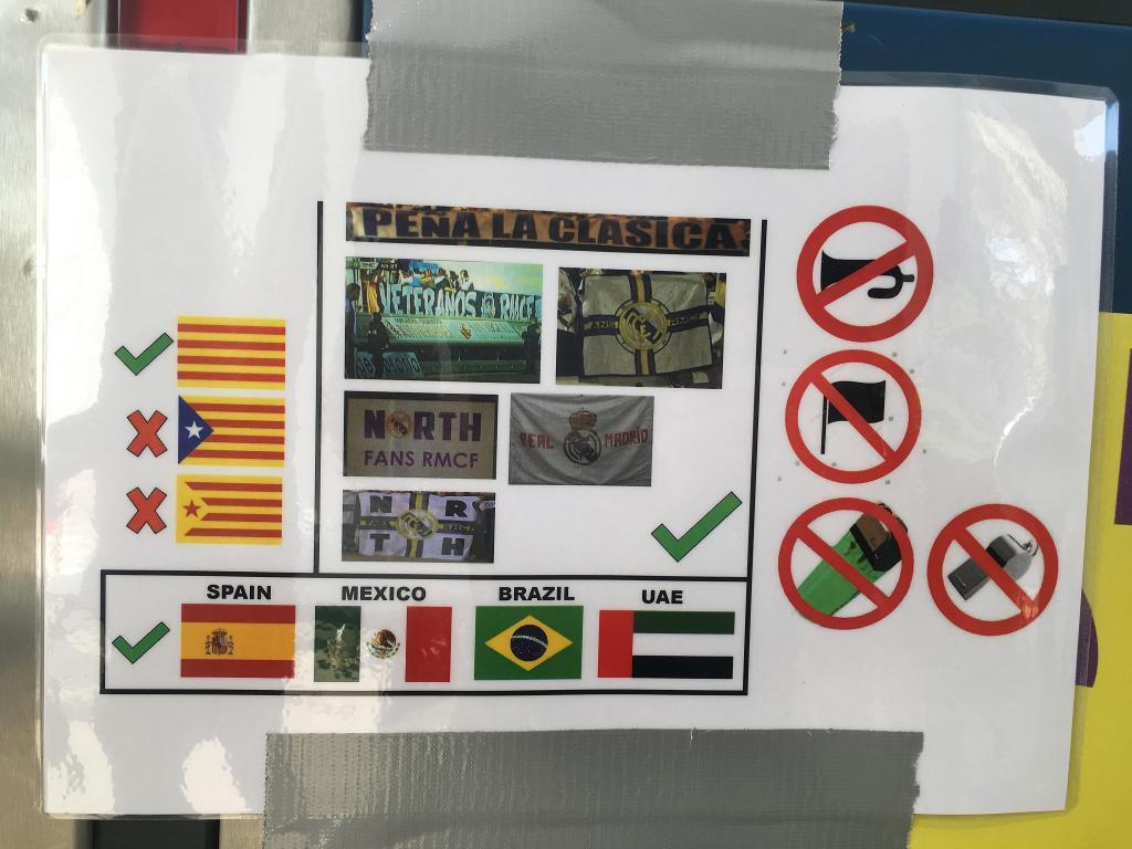 Las banderas que se pueden y no se pueden exhibir en la final del...