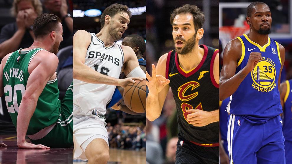 Hayward, Gasol, Calderón y Durant