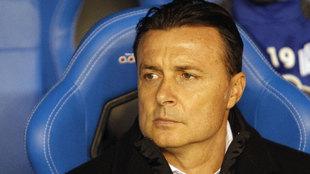 Crstóbal Parralo, entrenador del Deportivo.