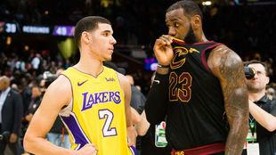 Imagen de la conversación entre LeBron James y Lonzo Ball