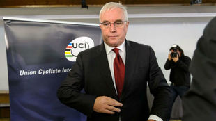 Pat McQuaid en 2012 cuando era presidente de la UCI.